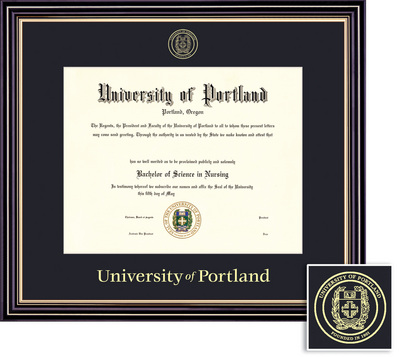 Framing Success Diploma, Single Mat in Satin Black Finish with Beautiful Gold Accents