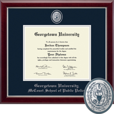 georgetown university bookstore church hill classics masterpiece  church hill classics masterpiece diploma frame public policy online only