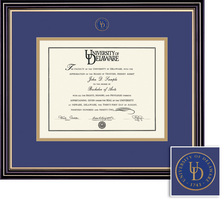Framing Success Prestige Diploma, Double Mat Satin Black Finish with Beautiful Gold Accents