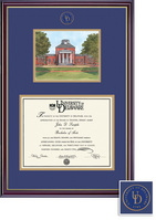 Framing Success Diploma Litho, Double Mat High Gloss Cherry Finish with Gold Inner Bevel
