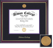 Framing Success Windsor Mdl Diploma, Double Mat High Gloss Cherry Finish with Gold Inner Bevel