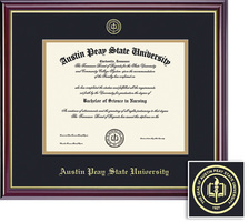 Framing Success Windsor Diploma, Double Mat in High Gloss Cherry Finish with Gold Inner Bevel