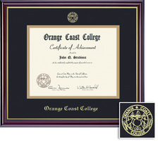 Framing Success Windsor Associate Diploma, Mat in High Gloss Cherry Finish with Gold Inner Bevel