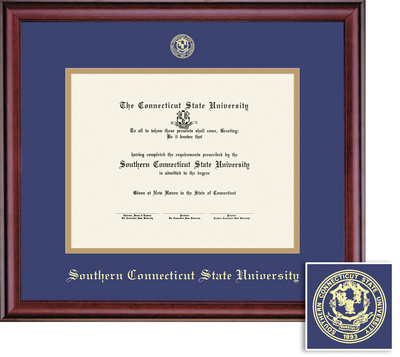 southern connecticut state university bookstore framing success  framing success classic doc diploma double mat in a rich burnishedcherry finish