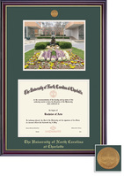 Framing Success Windsor Medallion Diploma Photo, Double Mat high gloss cherry gold inner bevel