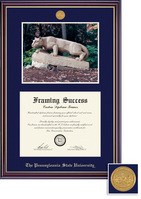Framing Success Windsor Medallion DiplomaPhoto, Double Mat high gloss cherry