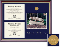 Framing Success Prestige Medallion DiplomaPhoto, Double Mat satin black finish