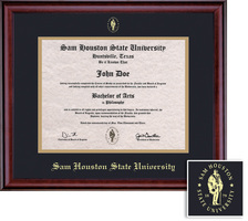 Framing Success Classic Diploma, Double Mat in a richburnised cherry finish