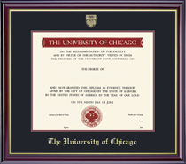 Framing Success Windsor Pre 0311 Diploma, Double Mat in highgloss finish with a gold inner bevel