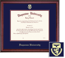 Framing Success Classic Doc Diploma, Double Mat in a richburnised cherry finish