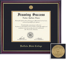 Framing Success Windsor Mdl Diploma, Dbl Mat in highgloss cherry finish w gold inner bevel