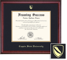 Framing Success Classic MA Diploma, Double Mat in a rich burnishedcherry finish