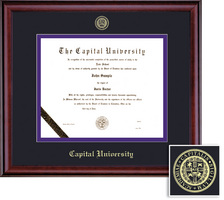 Framing Success Classic Law Diploma, Double Mat in a rich burnishedcherry finish