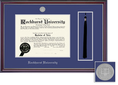 Framing Success Jefferson (2018pres) DiplomaTassel, Dbl Mat highgloss cherry silver inner bevel