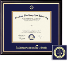 Framing Success Prestige (218pres) PhD Diploma Frame, Double Mat satin black gold accents