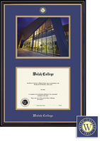 Framing Success Prestige BA DipPhoto, Dbl Mat in satin black finish with beautiful gold accents