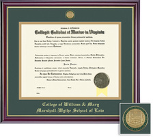 Framing Success Windsor Law (318Pres) Medallion Diploma Frame, Double Mat cherry finish gold