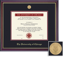 Framing Success Windsor Mdl Diploma, Double Mat in highgloss cherry finish with a gold inner bevel