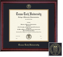 Framing Success Classic BAMADoc (717Pres) Diploma, double mat in a rich burnishedcherry finish