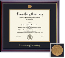 Framing Success Windsor BAMADoc (717Pres) Diploma, double mat cherry finish gold inner bevel