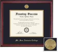 Framing Success Classic Mdl Diploma Frame, Dbl Mat in a rich burnishedcherry finish
