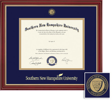 Framing Success Windsor BAMA (218pres) Medallion Diploma Frame Double Mat cherry gold accents