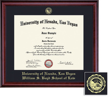 Framing Success Law Classic Diploma Frame in a Burnished Cherry Finish