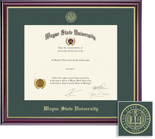 Framing Success Windsor Pre 2004 Double Matted Diploma Frame in Gloss Cherry Finish
