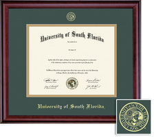 Framing Success Classic Double Matted Diploma Frame in a Burnished Cherry Finish. Masters, PhD