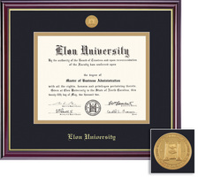 Framing Success Windsor MA Medallion Double Matted Diploma Frame in High Gloss Cherry Finish
