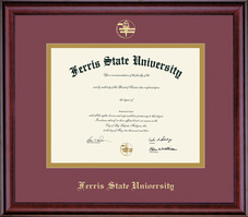 Framing Success Classic Dbl Matted Diploma Frame in Burnished Cherry Finish (Pharamcy and Optometry)