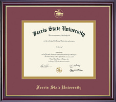 Framing Success Windsor Diploma Frame in Gloss Cherry Finish and Gold Trim (Pharamcy and Optometry)