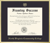 Framing Success Varsity Pre 111 Black Mat With A Satin Gold Tone Metal