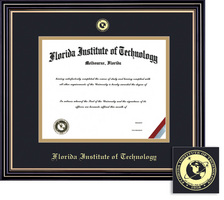 Framing Success Prestige BA MA Diploma Frame Double Matted in Satin Black Finish, Gold Trim