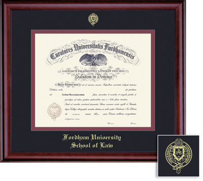 fordham university lincoln center bookstore framing success  framing success classic law diploma frame in a burnished cherry finish