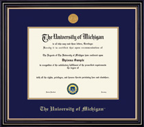Framing Success Prestige Diploma Frame with Medallion, Double Matted. Bachelors and Masters