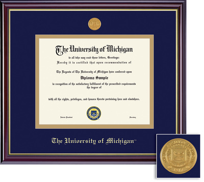 Framing Success Windsor Diploma Frame with Medallion. Bachelors and Masters