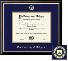 Framing Success Prestige Diploma Frame with Embossed Seal, Double Matted. Bachelors and Masters
