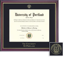Framing Success Diploma, Single Mat in a High Gloss Cherry Finish with Gold Inner Bevel