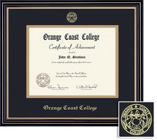 Framing Success Prestige Associate Diploma, Mat in Satin Black Finish Beautiful Gold Accents