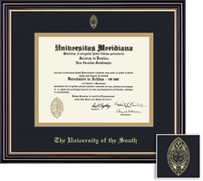 Framing Success Prestige School of Theology Diploma Frame,Dbl Matted in satin black finish,gold trim