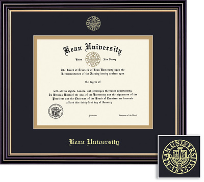 framing success prestige diploma frame double matted in satin black finish gold trim - Diploma Framing