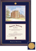 Framing Success Windsor Diploma Frame Double Matted in Gloss Cherry Finish and Gold Trim