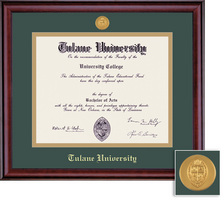 Framing Success Classic Mdl BA Diploma Frame. Double Matted in Burnished Cherry Finish