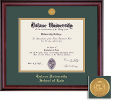 Framing Success Classic Mdl Law Diploma Frame. Double Matted in Burnished Cherry Finish