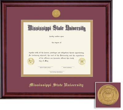 framing success classic double matted diploma frame in a burnished cherry finish - Dual Diploma Frame