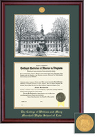 Framing Success Classic Law Medallion DiplomaPenInk Litho Double Matted Diploma Frame