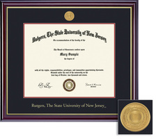 framing success windsor medallion 85x11 double matted diploma frame in gloss cherry finish