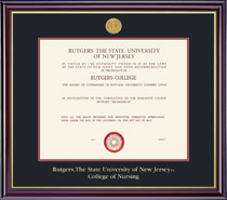 Framing Success Windsor 8.5x11 Diploma Frame in Gloss Cherry Finish and Gold Trim