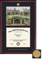 Framing Success Classic 8.5x11 Double Matted Diploma Frame in a Burnished Cherry Finish